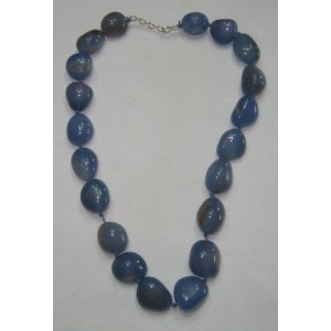 Chalcedony Tumbled Stone Necklace